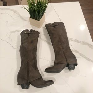 Fergie, LEDGE Style Boots 11 Brown Tall Riding